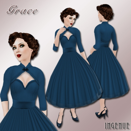 Grace ~ Prussian Blue